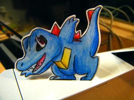 Paper Totodile by pettyartist