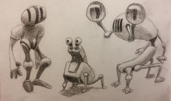robots from skatchbook  by Zootrop