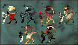 Eek Adopts by SinCommonStitches