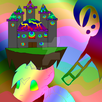 Radioactive Rainbows Floating Castle by mars714