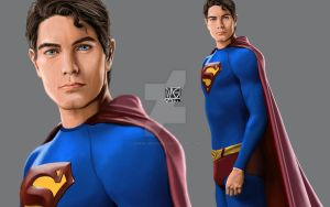 Brandon Routh as Superman by daniel-morpheus