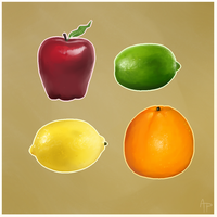 realistic fruit attempt by MobiusMelody