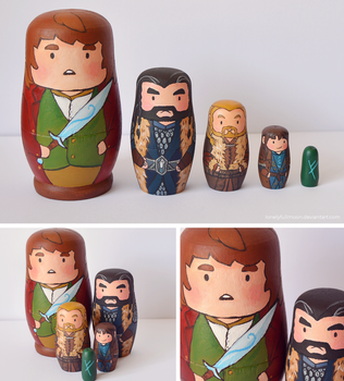 The Hobbit Matryoshka by LonelyFullMoon