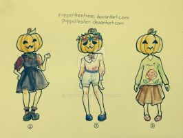 Pumpkin girls adoptatbles by PUETHAR