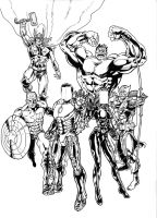 COMMISSION AVENGERS INKED by IMPOSI