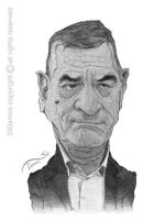 De Niro Caricature Sketch by StDamos
