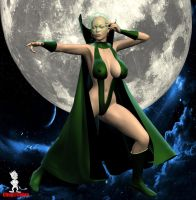 Marvel Comics's Moondragon by Chup-at-Cabra