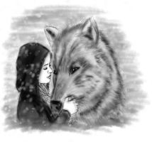 Lady with a Wolf by kafryne