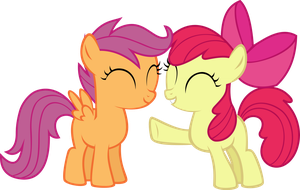 Scootaloo and Applebloom by Spacetchi
