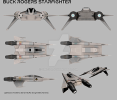 Buck Rogers Starfighter by gmd3d