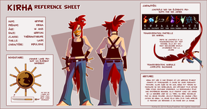 Kirha Reference Sheet - French by RubyFeather