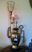 Steampunk Pressure Vessel Lamp by jimdavidson3