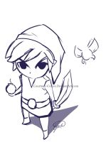 Toon Link sketch by Courtney-Crowe