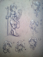 The Acrobat- Initial character sketches by Iomma