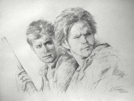 Sam and Dean Sketch by SongDuong