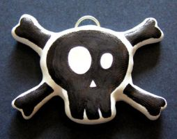 Skull and Crossbones Pendant by lavadragon