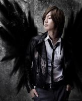 Fallen Angel Hyun Joong by AmaraofSilverlight