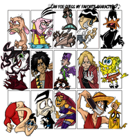 Guess my favourite characters by nashimi