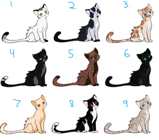 Warrior Cat Adoptable Batch 2 closed by Sukida-Adopts