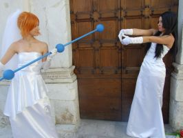 A combative wedding ! Boa and Nami cosplay by Mellorineeee