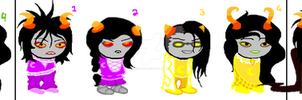 Homestuck Troll Adoptables #1: Lowbloods [CLOSED] by Icestar34