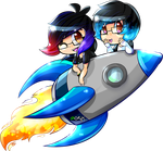We're going on a trip in our favourite rocket ship by Skoryx