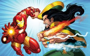 Iron-man vs. The Mandarin by bennyfuentes