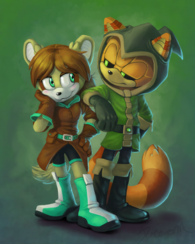 Commission: Gareth and Bonnie by AbsoluteDream