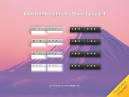 Lion traffic lights - SnowLeo by YaroManzarek