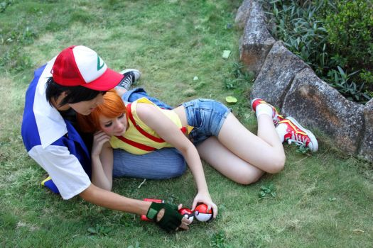 Misty and Ash Ketchum - Pokemon Cosplay by SailorMappy