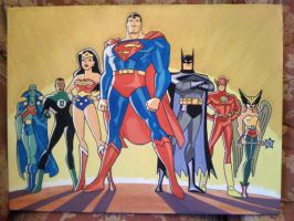 Justice League Canvas by Cyrano17