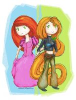 Kim Possible and Rapunzel Switch Outfits by melofarce
