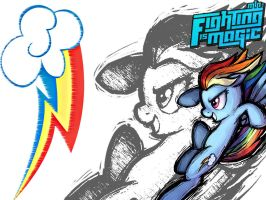 Rainbow Dash (Fighting is Magic)Wallpaper 1024x768 by PerpetualSpectrum