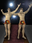Johnny Cage Undressed Pack - Mortal Kombat 9 by romero1718