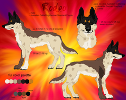 Rodeo ref sheet by Miahii
