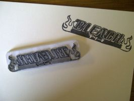 Bleach logo - rubber stamp by dunkleLamm