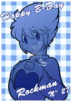 Happy B-Day Rockman N-27 by Kamira-Exe