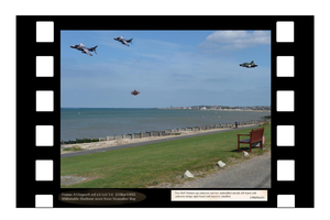 Odd Unidentified aircraft over Whitstable Bay by Radwulf59