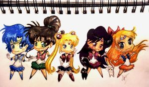 Sailor Moon Chibis by MrsTwix90