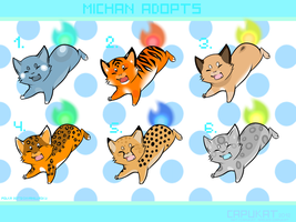 CLOSED- Michan adoptables by Capukat