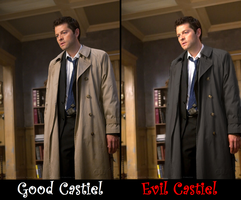 Good Castiel, Evil Castiel by Busted-Love