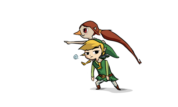 Link and Medli by seyrii