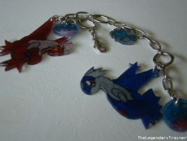 Latios and Latias Bracelet by TheLegendaryTrainer