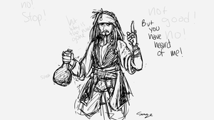 Daily Doodle #8 - Captain Jack Sparrow by Mr-Sage