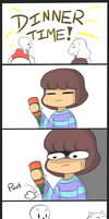 Dinner Time! - Undertale by Deranged-Chilcl