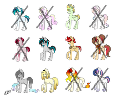 MLP Adoptables (closed) 0/12 by Luminoxie