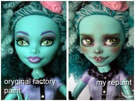 Monster High Honey before and after by kamarza