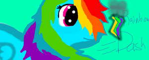 Rainbow Dash! My First Try! Whadda yall think? by Shimmerkat