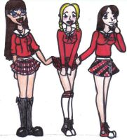 Bad Band Girls in Marker by Yasha631