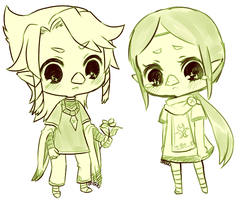 wind waker -- komali and medli by onisuu